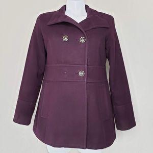 Liz Claiborne | Purple Pea Coat